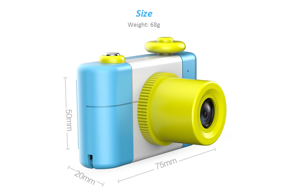 Cartoon Digital Small SLR Camera Toy Gift for Children- Butterfly Blue