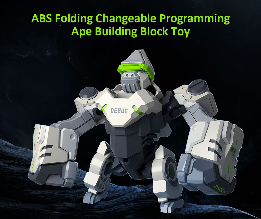 Xiaomi Youpin ABS Folding Changeable Programming Ape Toy- Silver