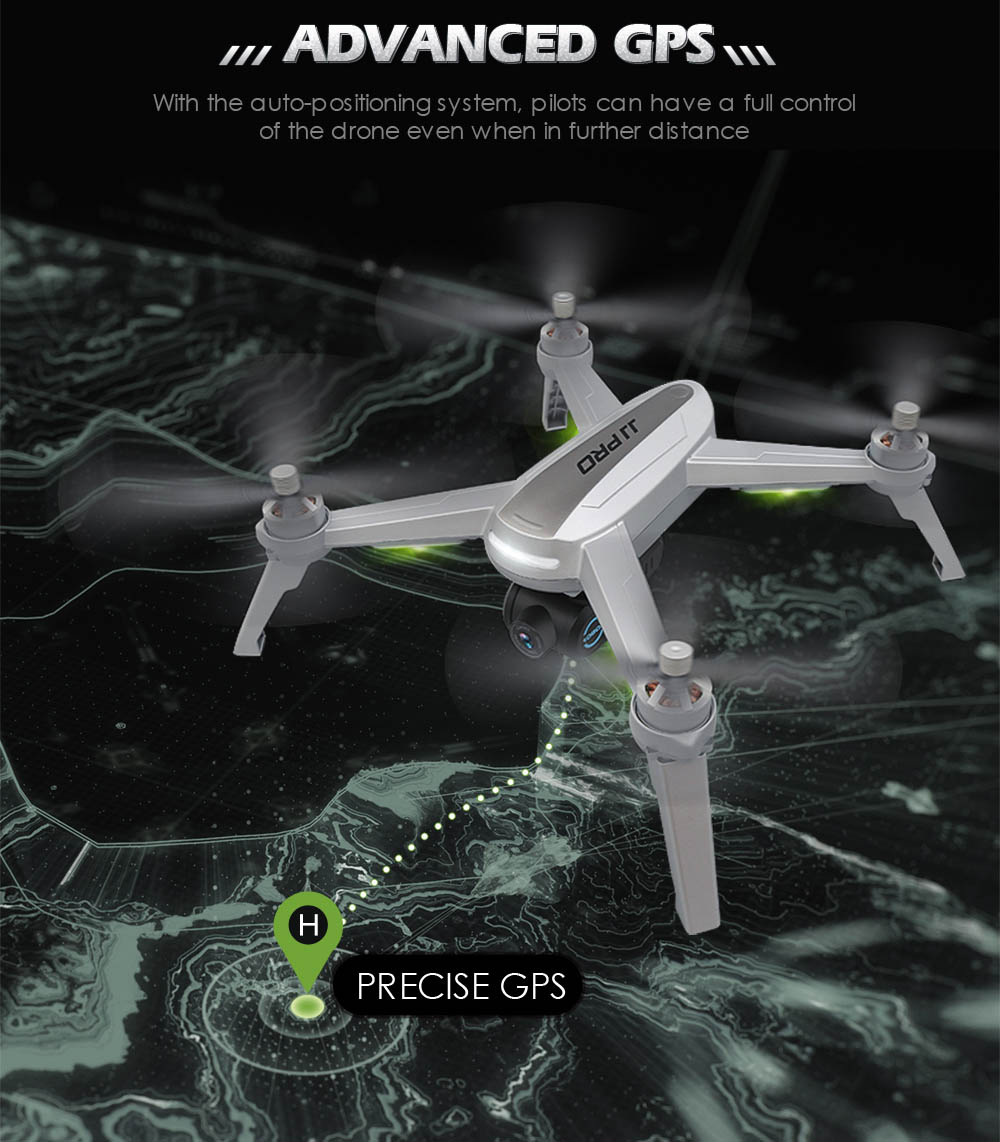 JJRC JJPRO X5 5G WiFi FPV RC Drone GPS Positioning Altitude Hold 1080P Camera Point of Interesting Follow Brushless Motor- Light Gray with 1 Battery