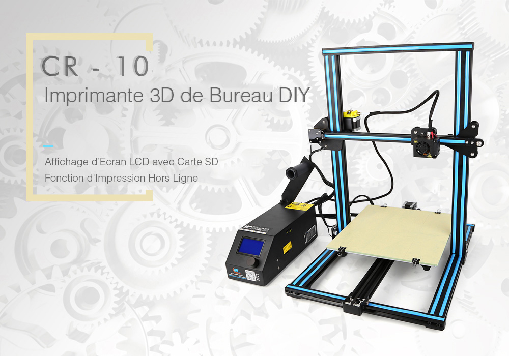 Creality3D CR - 10 Imprimante 3D - Blue EU Plug Upgraded Version