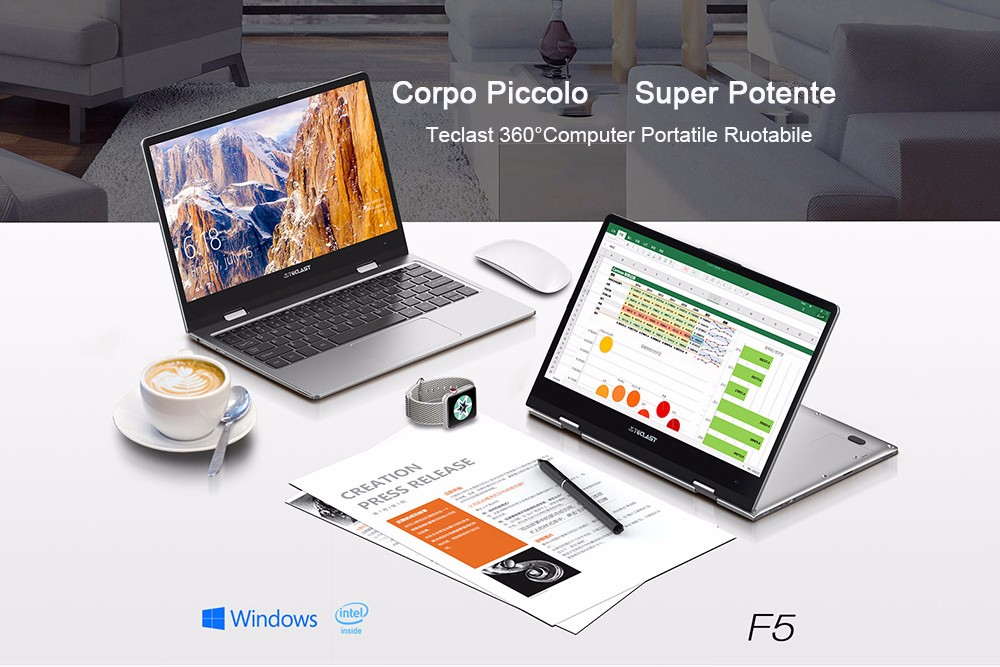 Teclast F5 Laptop con display 360° touch