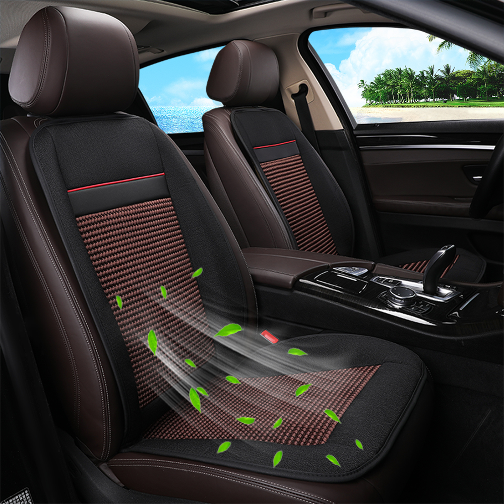 Seat Cover Refrigeration Blowing Cooling Smart Car Cushion Black