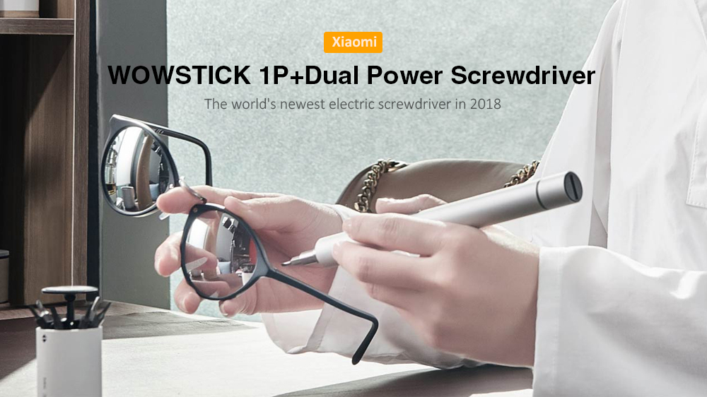 WOWSTICK 1P+ Electric Screwdriver Cordless Power Screw Driver - Silver