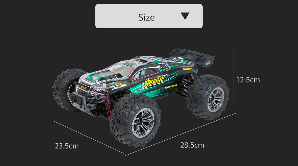 XINLEHONG TOYS 9136 1/16 2.4G 4WD RC Car 36km/h Bigfoot Off-road Truck RTR Toy- Green