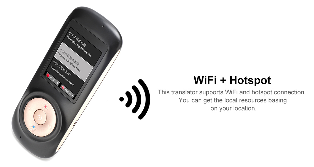 T2S Intelligent Voice Translator 2 4 inch Touch Screen WiFi Hotspot 42  Languages