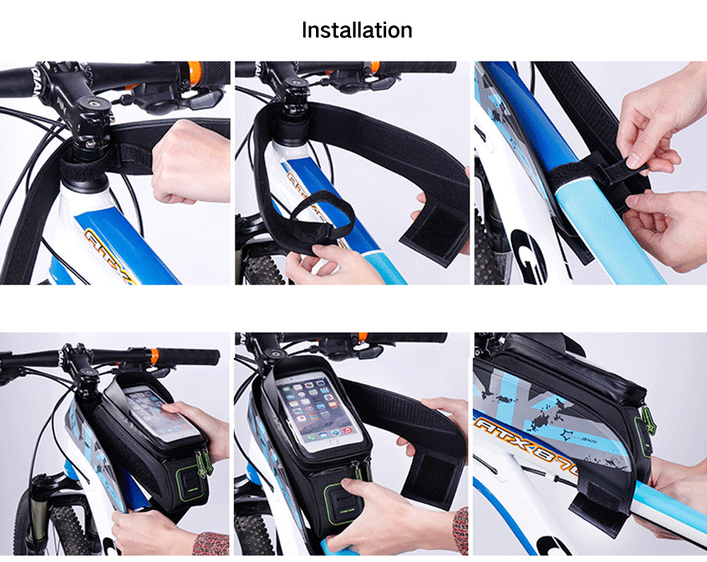 Rockbros Waterproof Saddle Bag Mobile Phone Bicycle For Cycling 010 4bk Mtb Handlebar 6 Inch Butterfly Blue
