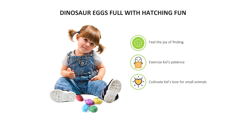 Novelty Colorful Eggs Toys Hatching Dinosaur Grow Easter Dino Egg 60PCS- Multi