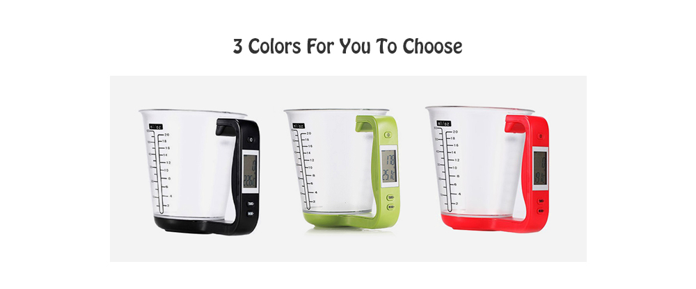 Multifunctional Digital Kitchen Scale Measuring Cup- Red