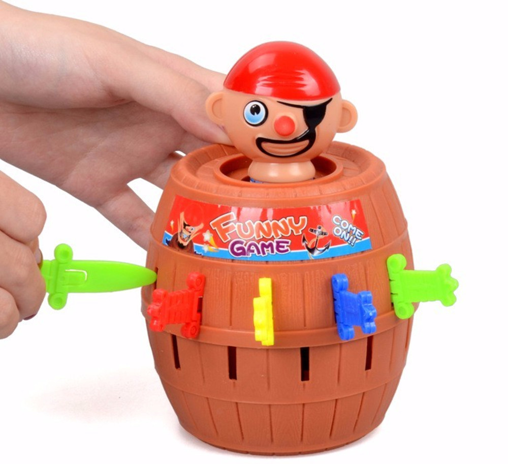 Funny Gadget Pirate Barrel Game for Children Lucky Stab Pop Up Toy ...