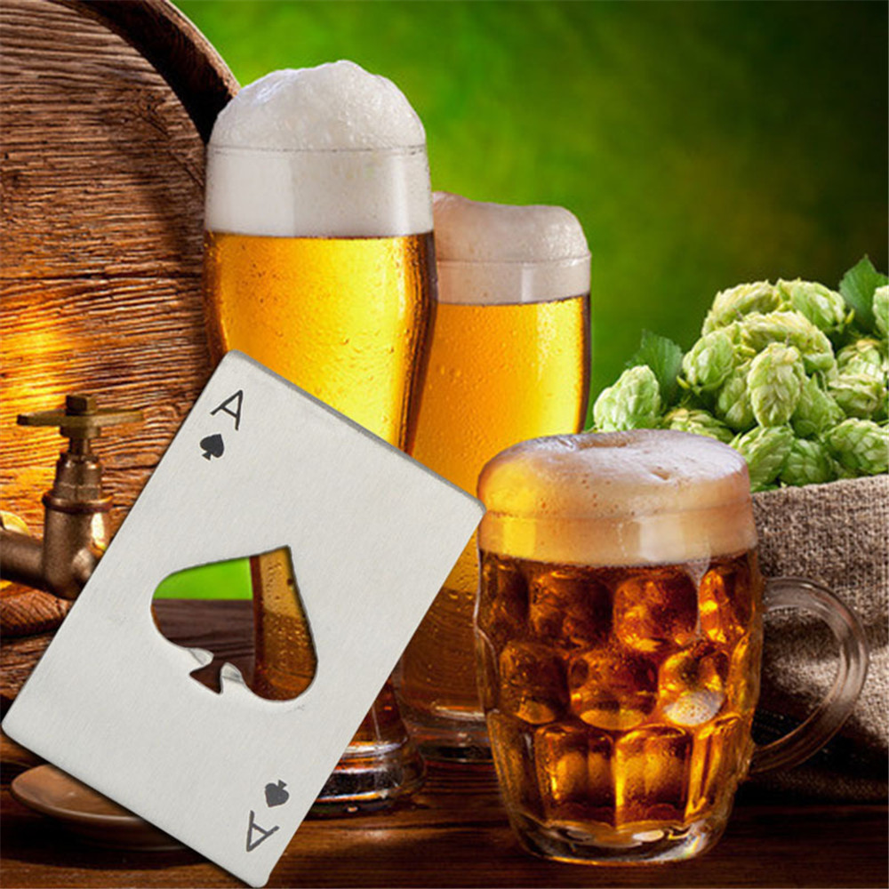 Bottle Opener Credit Card Size Casino for Your Wallet- Silver