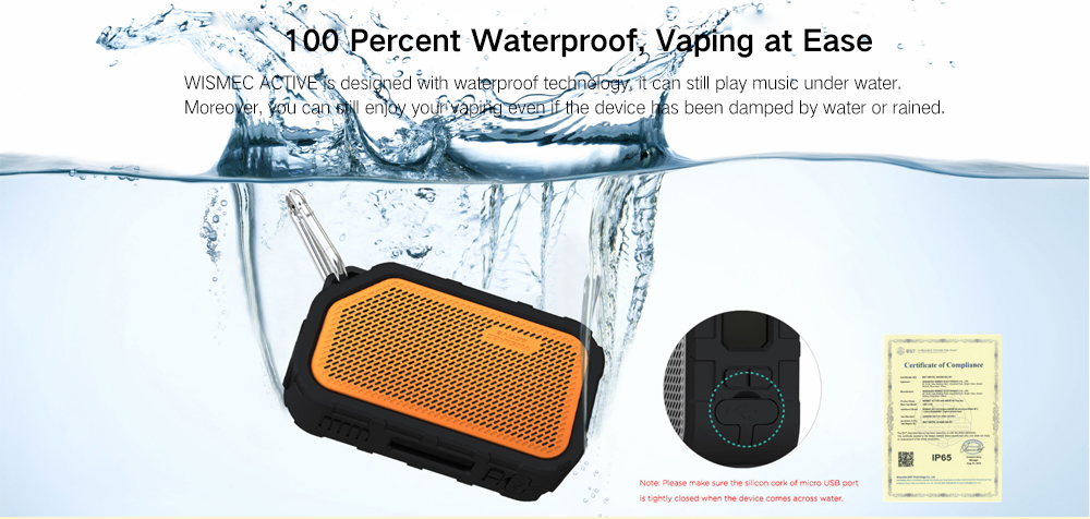 Wismec Active Bluetooth Music Box Mod Waterproof