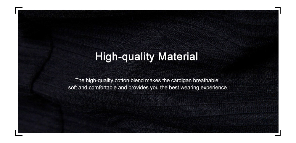 Fashion Long Sleeve Hooded Cardigan Knit Sweater Trench Coat for Men - Black M