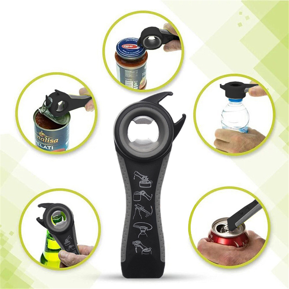 Opener Creative Stainless Steel 5 in 1 Multifunction Can Bottle Beer Kitchen Too- Multi-B