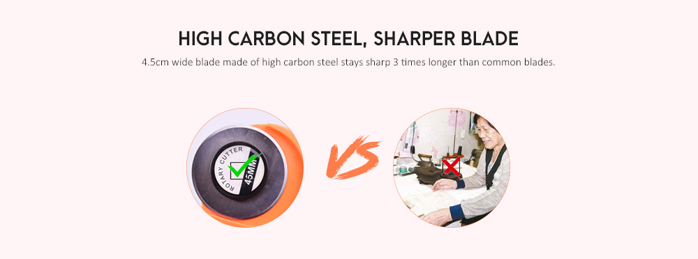 High Carbon Steel Manual Rotary Cutter- Orange