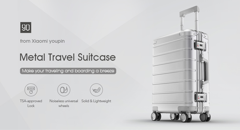 45cb5cd777ec Xiaomi 20-inch Metal Travel Suitcase Universal Wheel