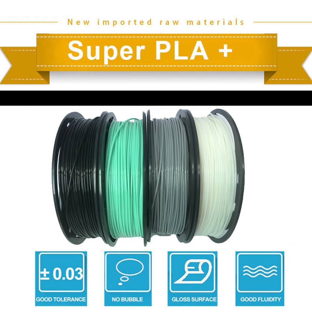 CCTREE 3D Printer PLA 1.75mm 4 Color Pack For Creality CR10S Ender 3 Finder- Multi
