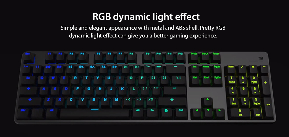 Xiaomi Gaming Keyboard with RGB Flashback- Black