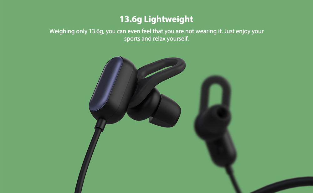 Xiaomi YDLYEJ03LM IPX4 Waterproof In-ear Sports Earphone Bluetooth Earbuds with Line Control Microphone Youth Edition- Black