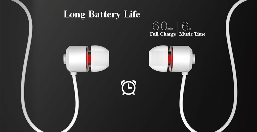 REMAX RB - S6 Neckband Sports Bluetooth Earphone Wireless Magnetic Vibration Earbuds with Mic- White