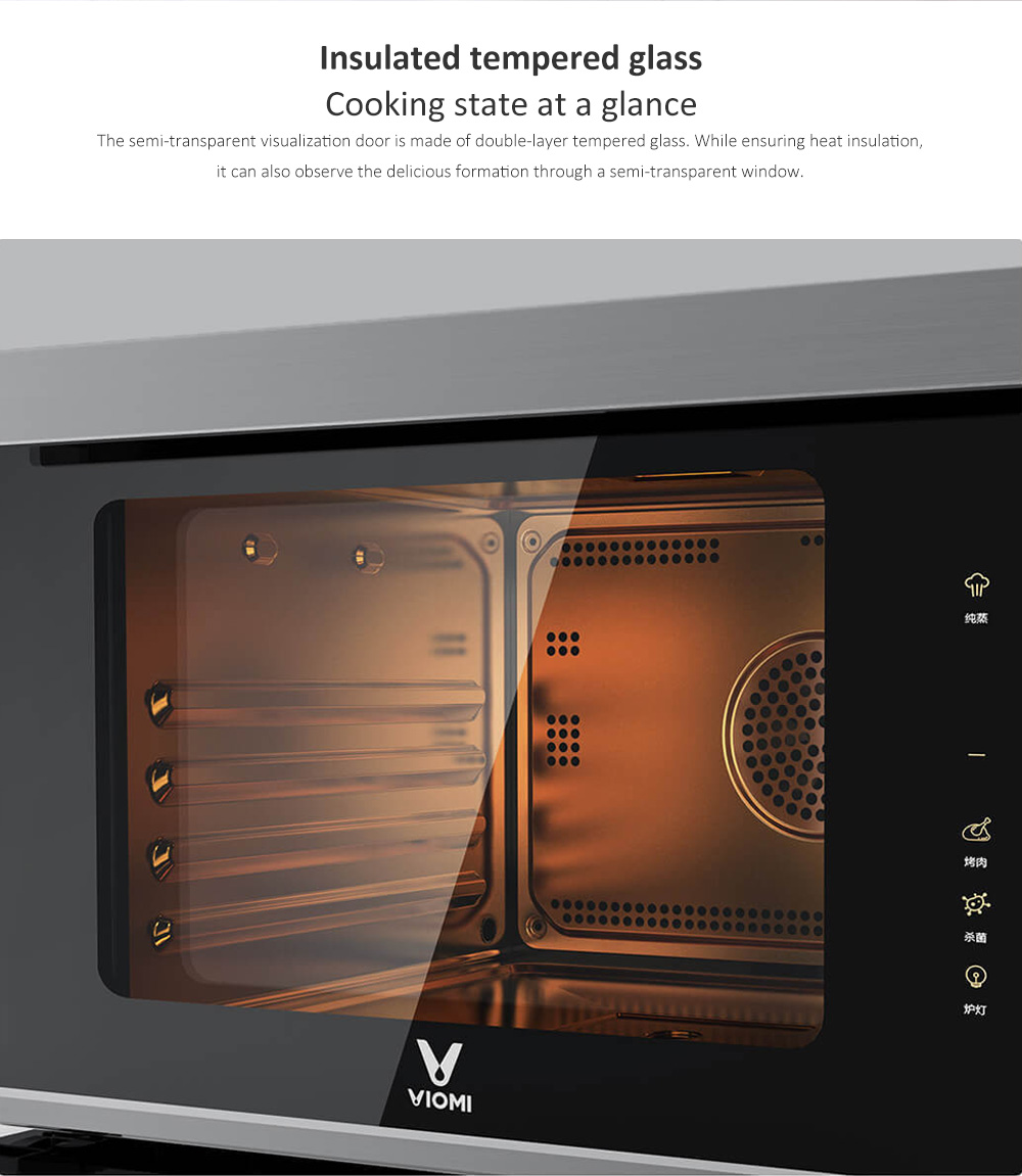 VIOMI VSO2802 28L 3D Surrounding Heating Steaming Baking Machine with 50 Smart Recipes from Xiaomi- Black Eel