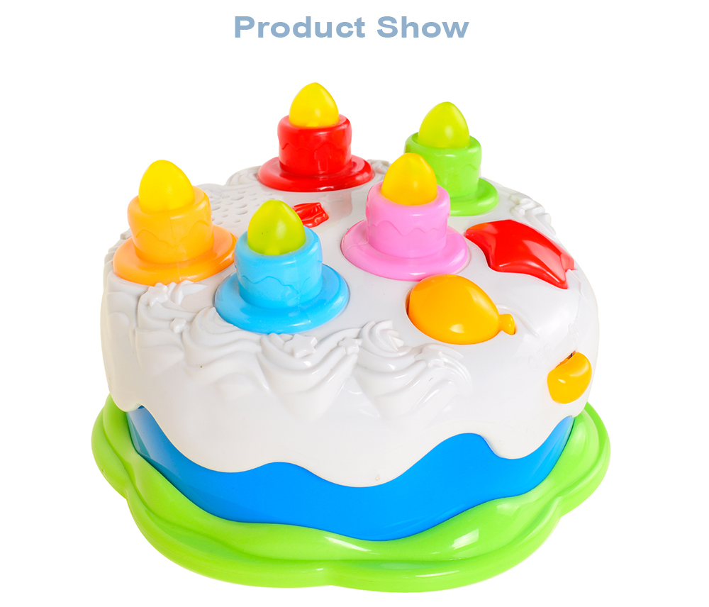Baoli Birthday Cake Toy With Counting Candles Music For Kids