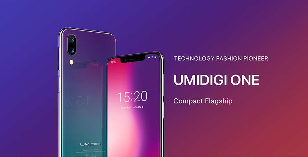 UMIDIGI One 4G Phablet 5.86 inch Android 8.1 MT6763 Octa Core 2.0GHz 4GB RAM 32GB ROM 16.0MP Front Camera Fingerprint Sensor 3550mAh Built-in- Carbon Fiber Black