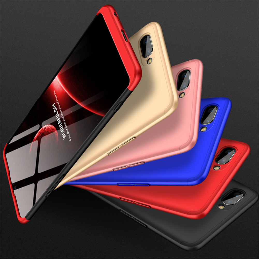 Cover Case For Oppo A5 A3s Protection Hard Pc Fundas Coque Back 2in1 Squishy Mirror Metal Bumper F1s Champagne