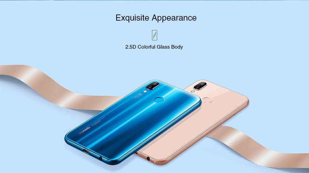 HUAWEI P20 Lite 4G Phablet 5.84 inch Android 8.0 Kirin 659 Quad Core 2.36GHz 4GB RAM 64GB ROM 24.0MP Front Camera Fingerprint Sensor 3000mAh Built-in- Blue