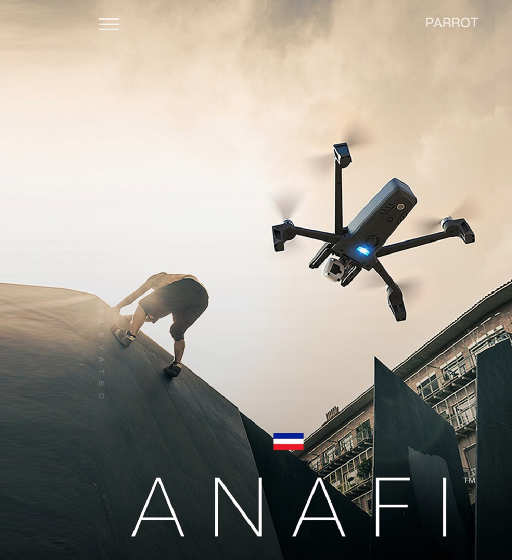 Parrot Anafi WiFi RC Drone Ultra Compact Flying 4K HDR FPV Camera