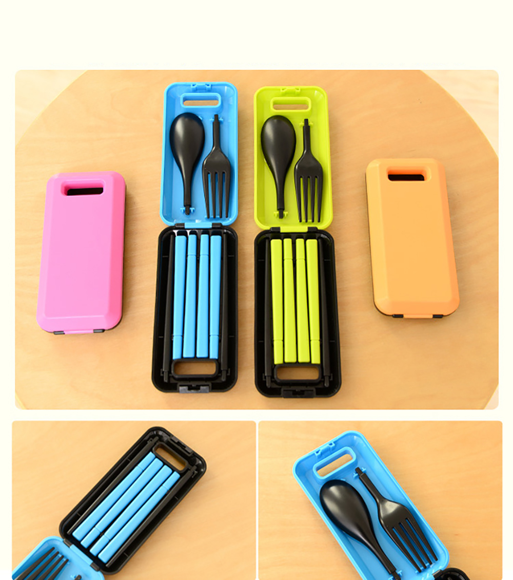 DIHE Convenient and Fast Travel Fold Tableware- Turquoise