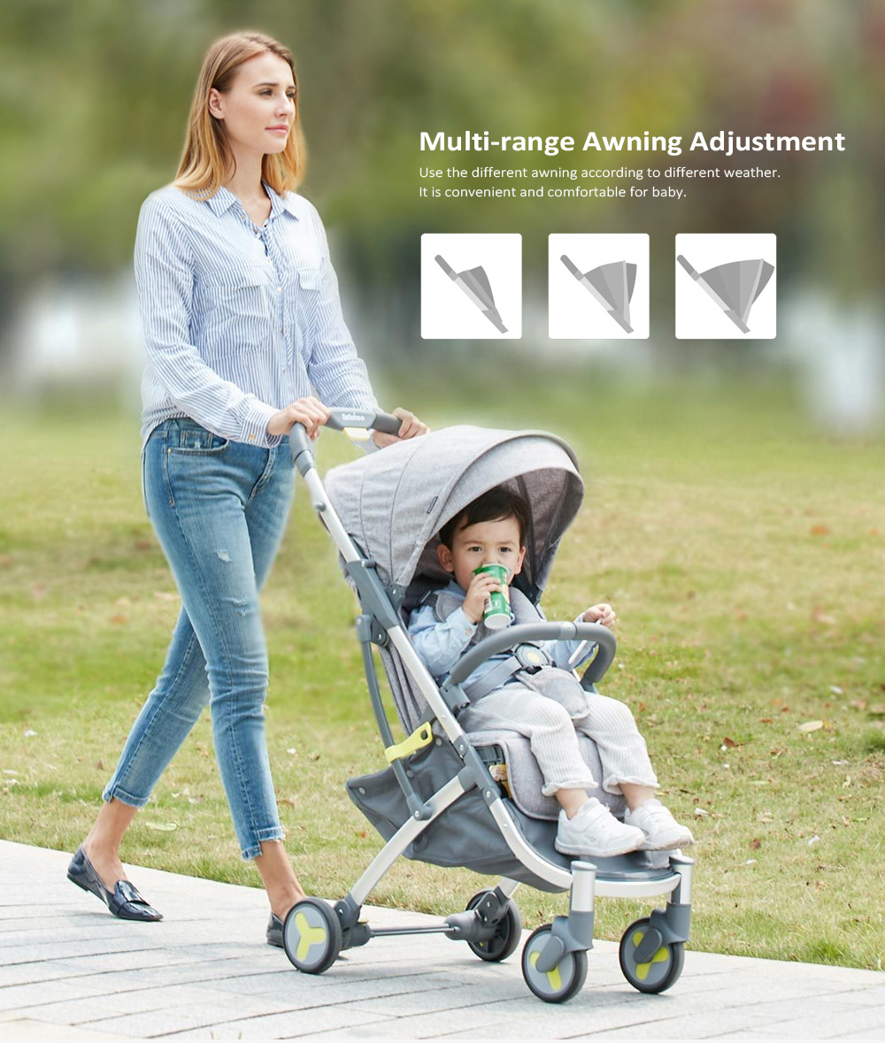 Xiaomi Youpin Lightweight Portable Stroller for Baby- Blue Gray