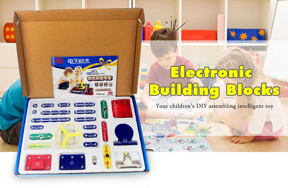 Electronic Building Blocks Set 199 Circuits Scientific Educational Toy- Multi-A