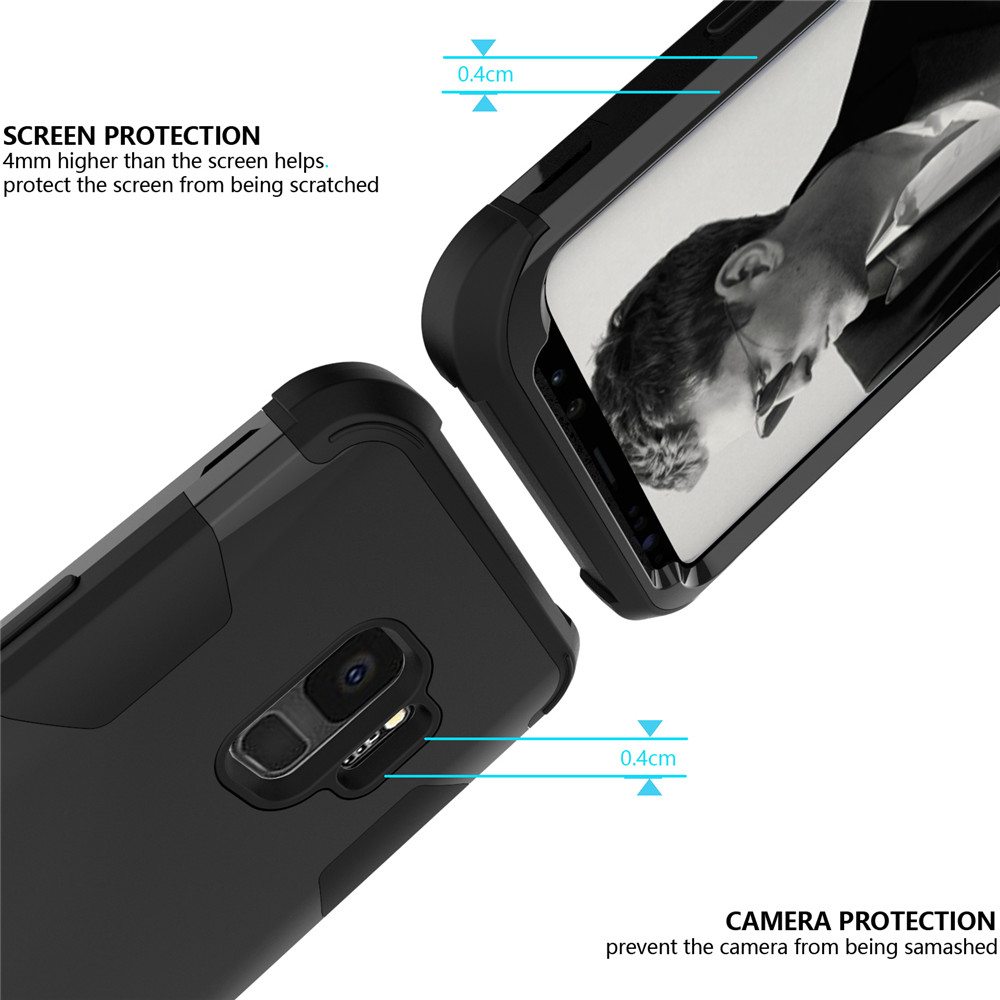 Shockproof Full-body Protective Hard Phone Case for Samsung S9- Multi-E