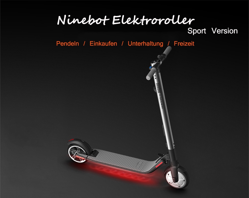 Ninebot Segway ES2 Folding Electric Scooter from Xiaomi Mijia – GRAY 2