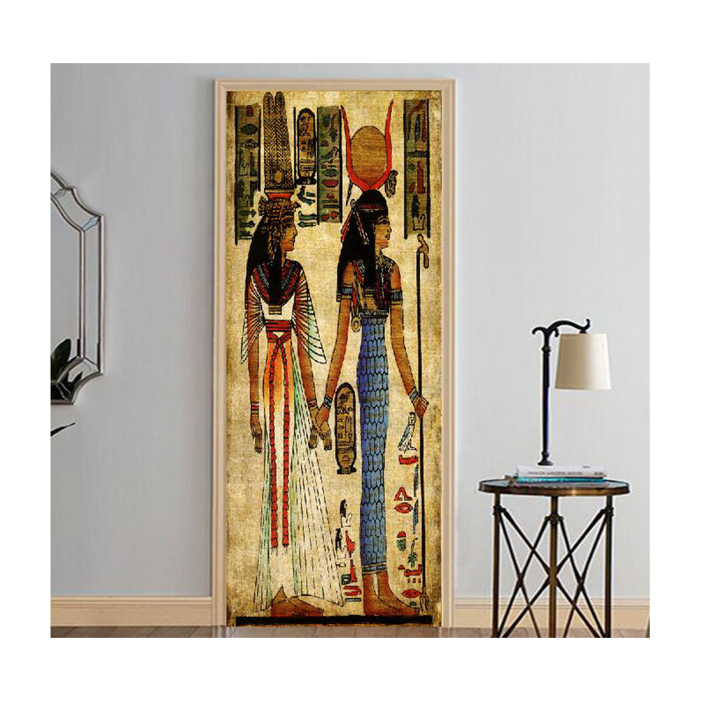 Mailingart Hd Canvas Print Door Wall Sticker Mural Home Decor Egypt Woman Multi 77x200cm