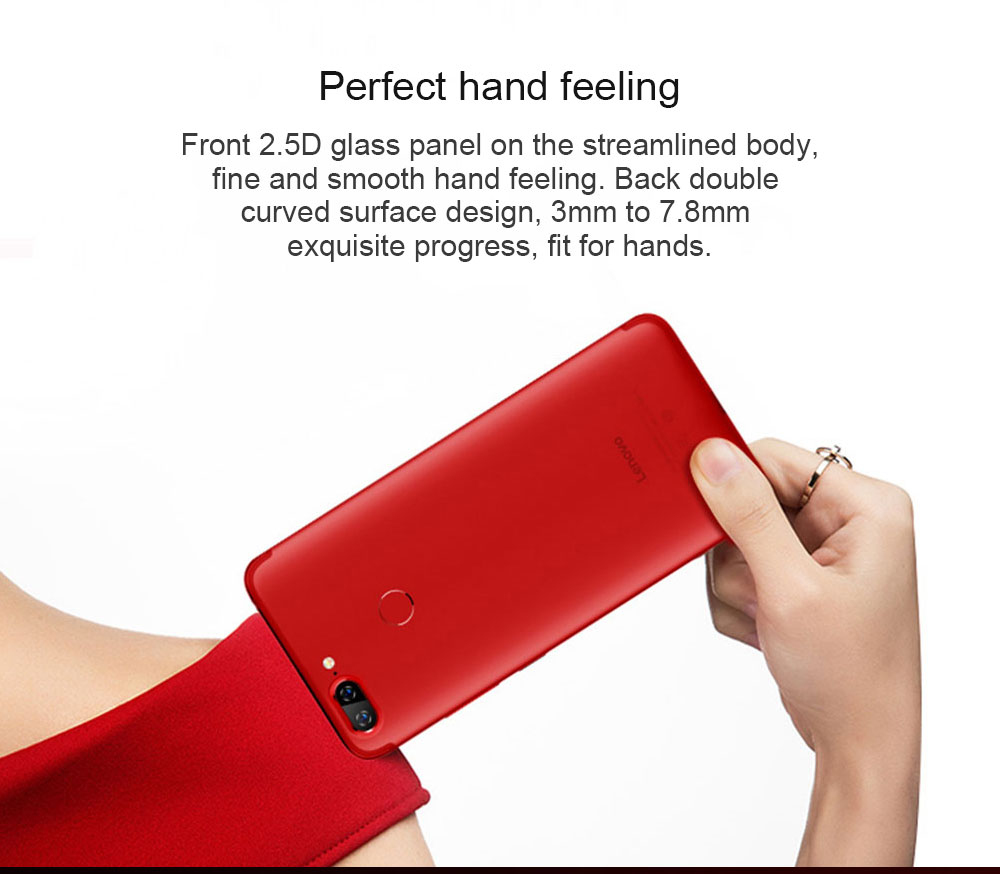 Lenovo S5 4G Phablet 5.7 inch Android O Snapdragon 625 2.0GHz Octa Core 4GB RAM 64GB ROM 16.0MP Front Camera Touch Sensor 3000mAh Built-in- Black