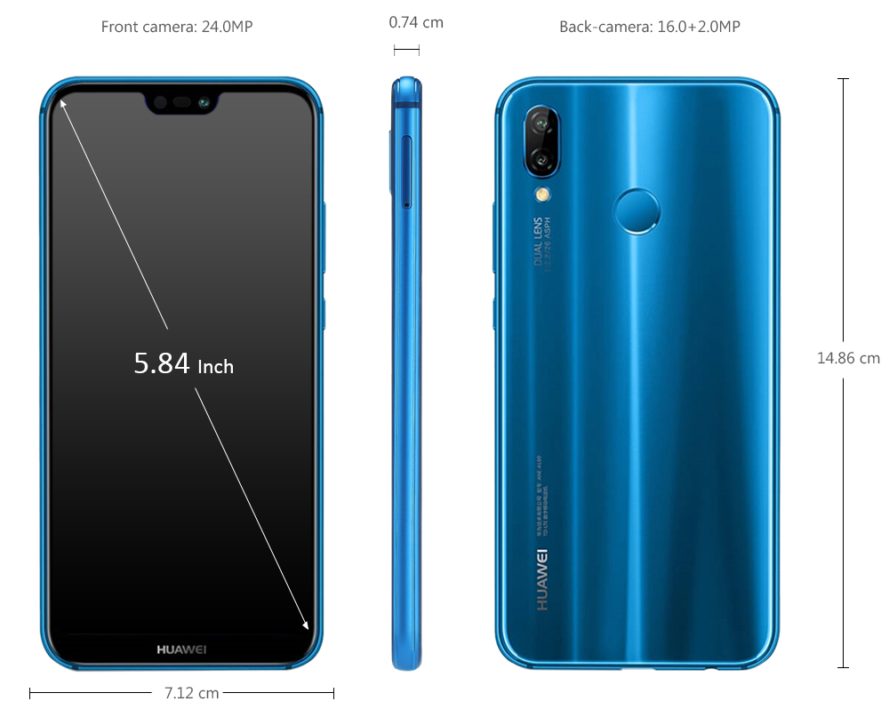 HUAWEI Nova 3e ( HUAWEI P20 Lite ) 4G Phablet International Version