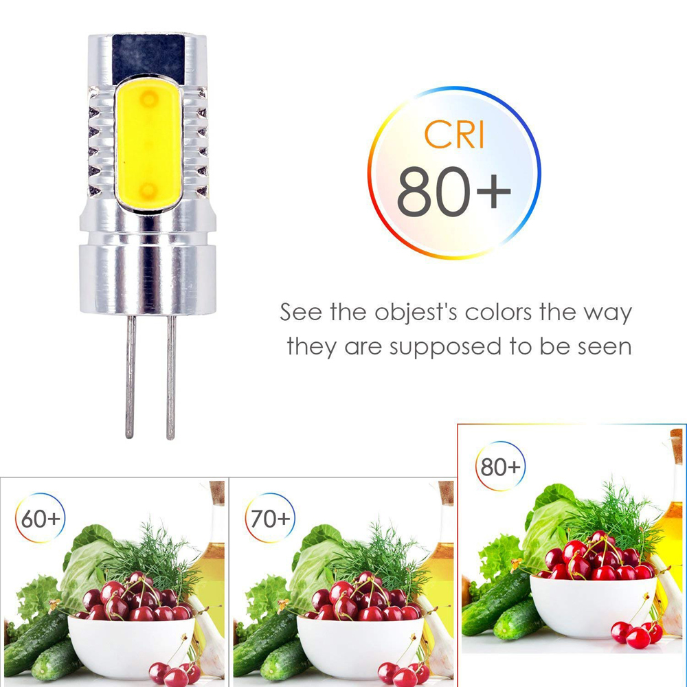 Aluminum G4 Led Light Cob Dc 12v Crystal Corn Bulb 5w Replace Halogen Lamp 5pcs