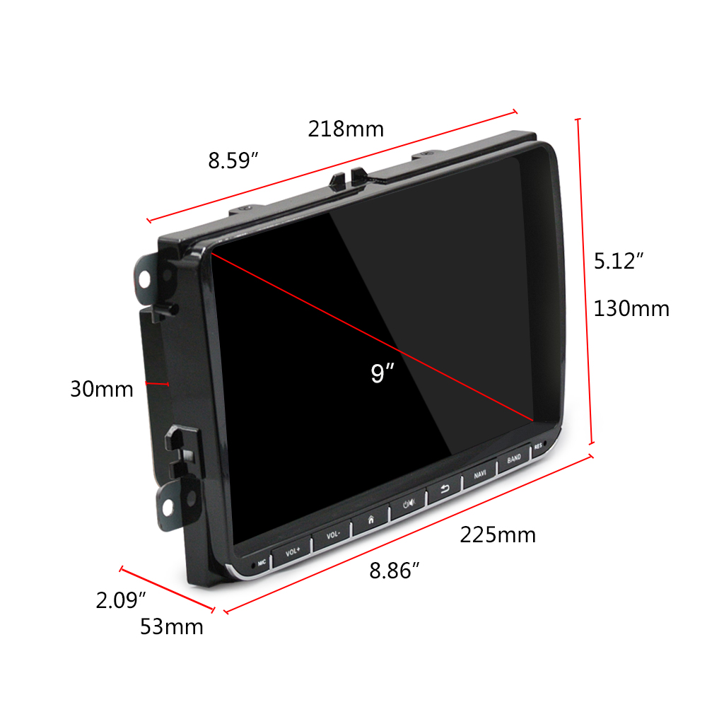 Ml Ckvw92 Universal 9 Inch Car Dvd Player For Vw 10999 Free Automotive Fuse Box Android 60 Dual Din With Ultra Thin