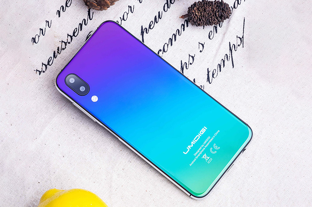 UMIDIGI One 4G Phablet 5.86 inch Android 8.1 MT6763 Octa Core 2.0GHz 4GB RAM 32GB ROM 16.0MP Front Camera Fingerprint Sensor 3550mAh Built-in- Twilight