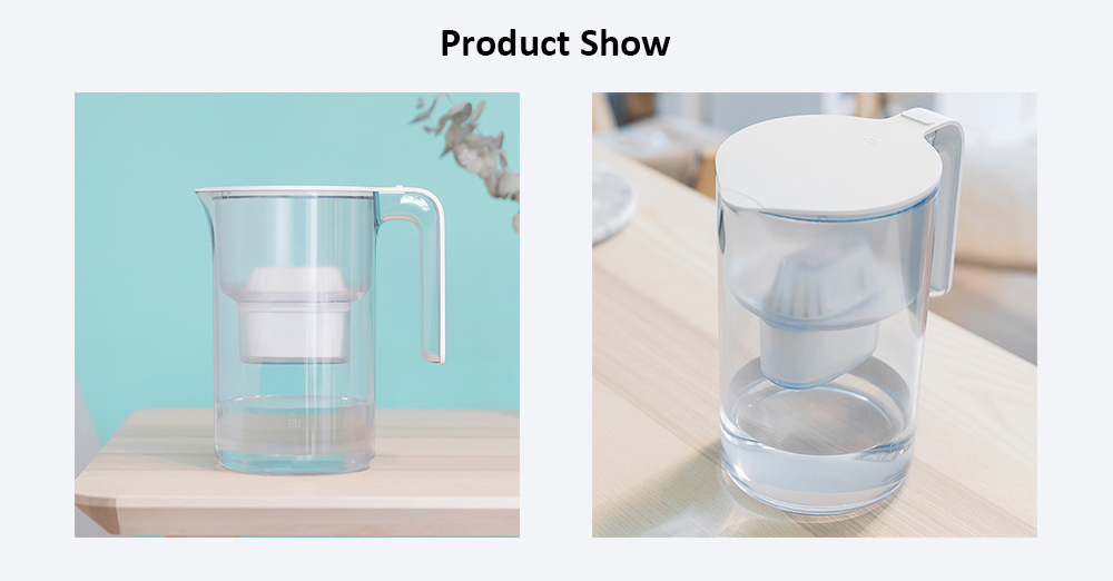 Xiaomi Mijia Stylish Water Filter Kettle with 2L Large Capacity - Transparent