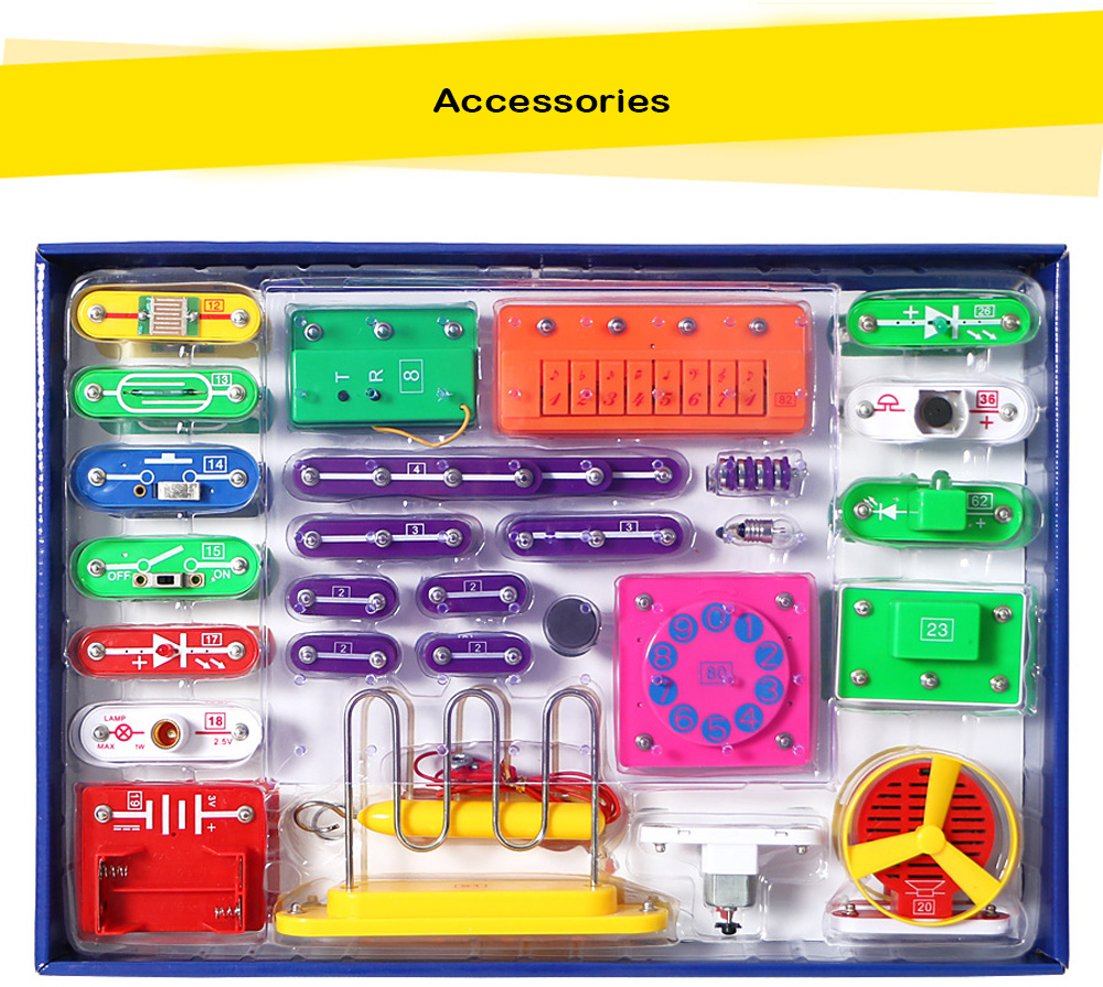 Kids Diy Electronic Circuit Stitching Educational Toy Building Circuits For Creative Blocks Physics Learning Multi