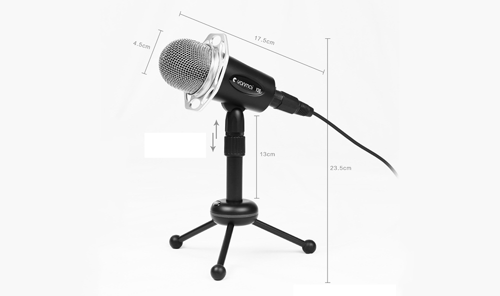 Yanmai Y20 Gaming Podcast Omni Directional Condenser Microphone- Black