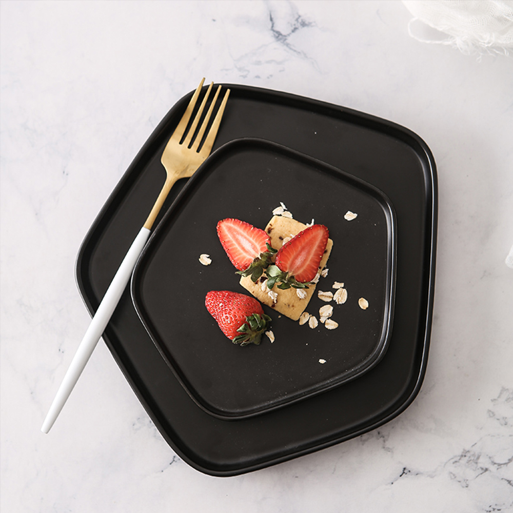 Japanese  Originality  Dessert Plate  Breakfast Tray  Ceramic Baking Tray- White S