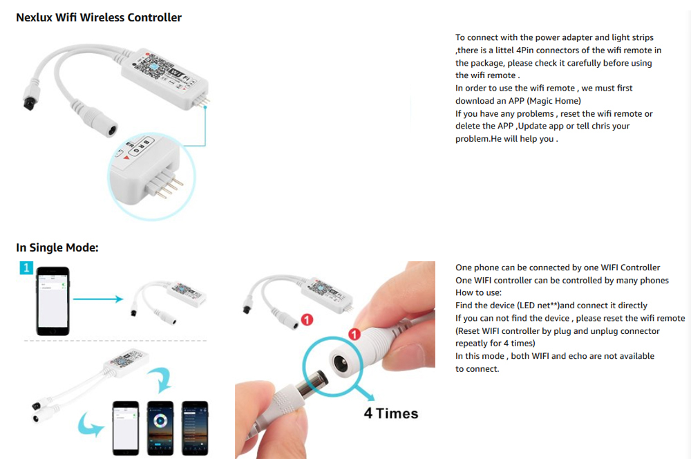 ZDM WiFi Wireless LED Smart Controller Working DC5-28V with iOS/Android  System