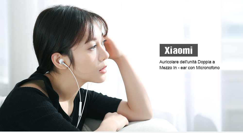 Xiaomi BRE01JY Dual Drivers Auricolare in-ear- Black
