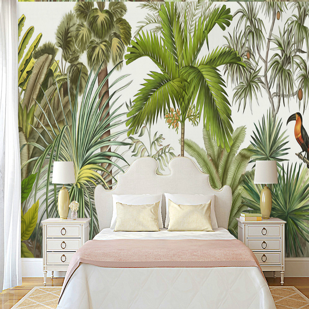 Tropical Rainforest Birds And Trees Wallpaper Wall Stickers Murals