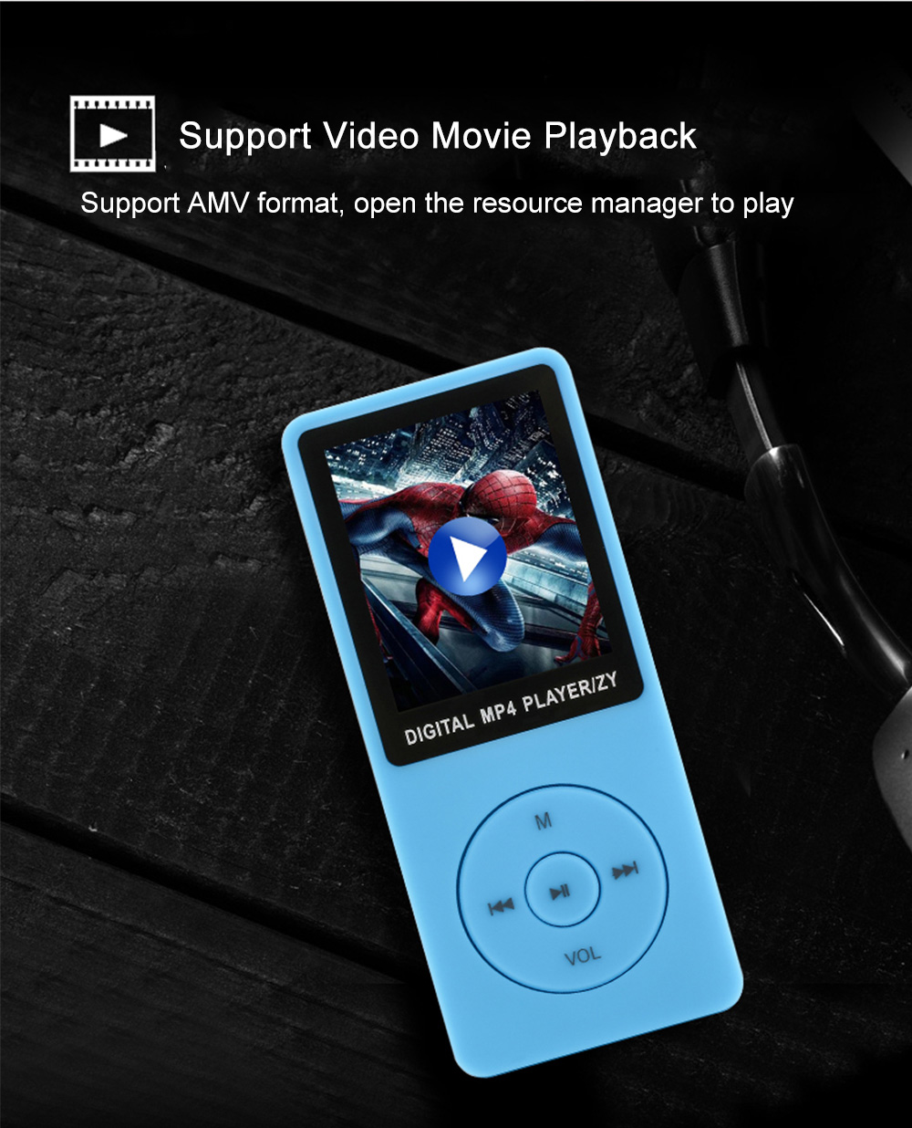 ZY418 Ultra-thin Sport MP3 MP4 Music Player | Gearbest Mobile