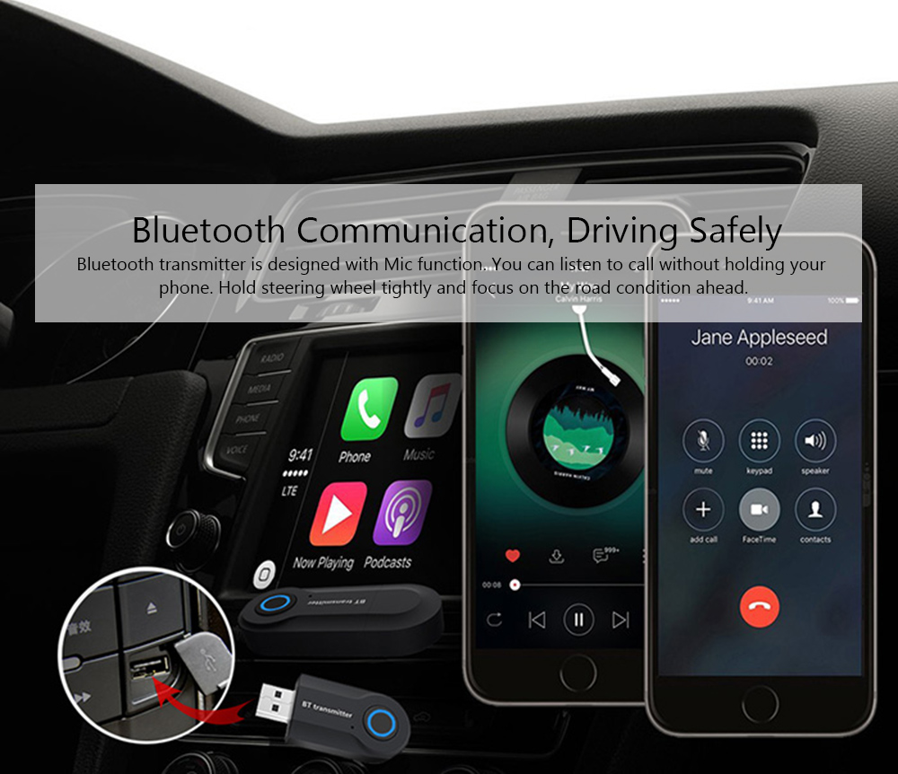 09S Audio Bluetooth Transmitter for PC / TV / MP3