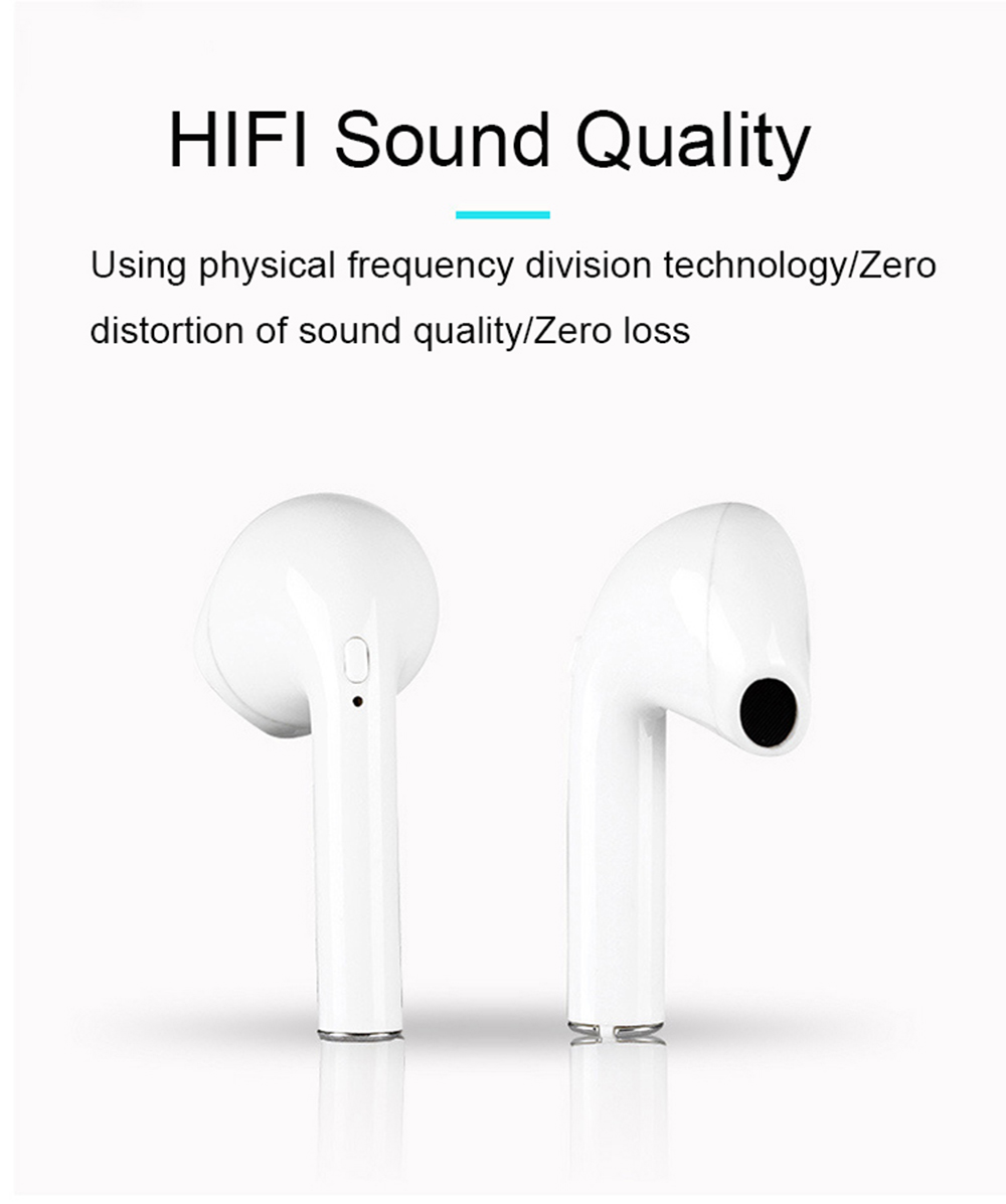 i9s TWS Smart Bluetooth Earphone Wireless Mini Earbuds with Charger Box- White